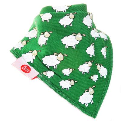 Zippy Fun Slabbetje - Groen met schaapjes