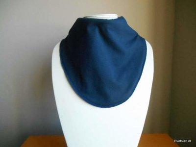 Puntslab Kwijlslab XL Donkerblauw